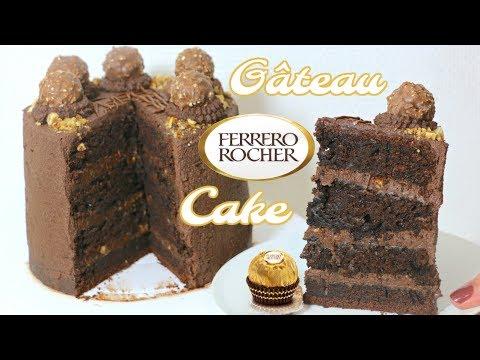 FERRERO ROCHER CAKE Recipe | Recette Gâteau Ferrero Rocher 🍫 😝