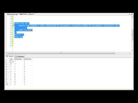 TSQL: Find And Remove Duplicates