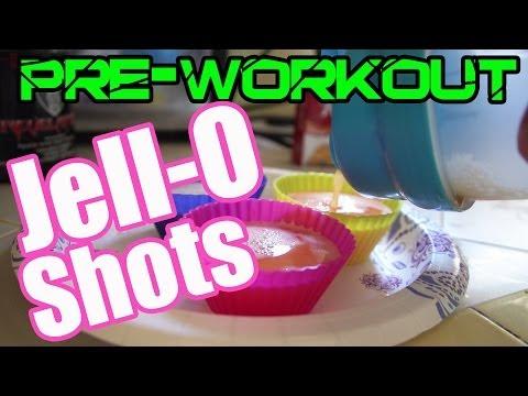 Pre-Workout Jello Shots