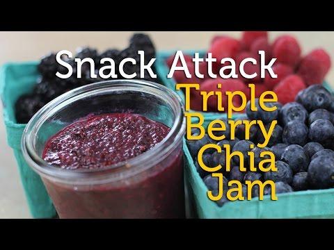 Snack Attack Recipe | Triple Berry Chia Jam Three Ways