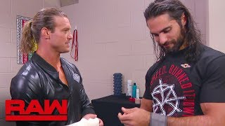 Seth Rollins and Dolph Ziggler meet in the trainer