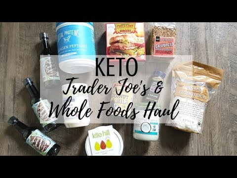 KETO Trader Joes  + Whole Foods Haul | Low Carb Dairy Free Grocery Essentials