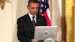 President Obama Tweets from the White House