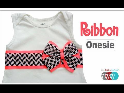 How to Make a Ribbon Onesie - TheRibbonRetreat.com
