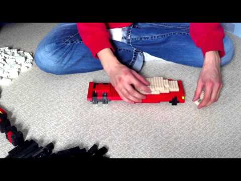 Building Lego Semi Truck with Trailer