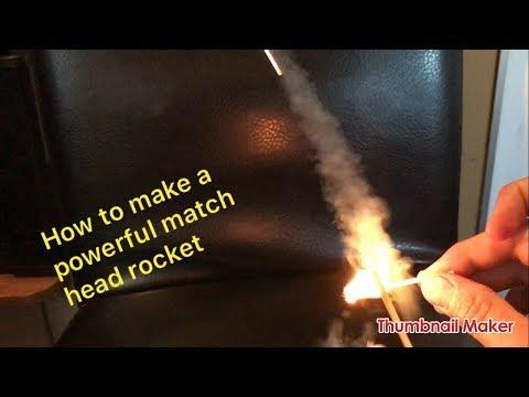 How to make a crazy match stick rocket with a single match head