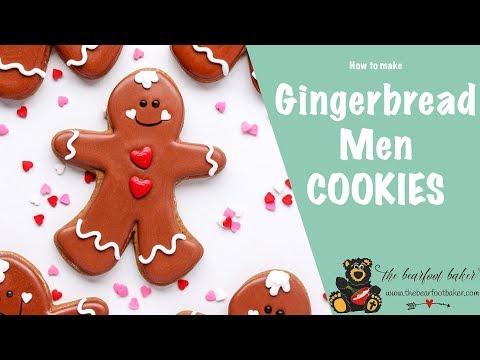 How to Make Gingerbread Men Cookies | The Bearfoot Baker