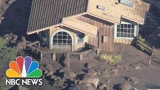 Aerials Show Montecito Devastation After Mudslides   NBC News