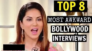 TOP 8 Most Awkward & Embarrassing Bollywood Interviews