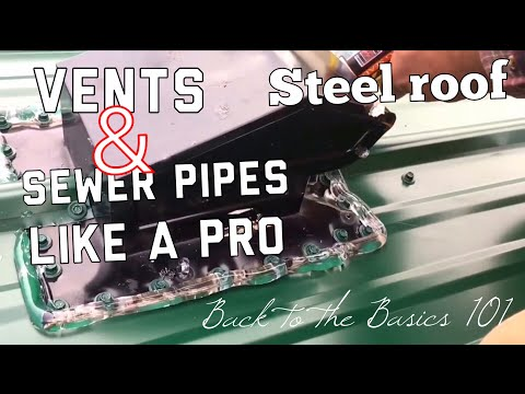 Steel roofing vents how to.