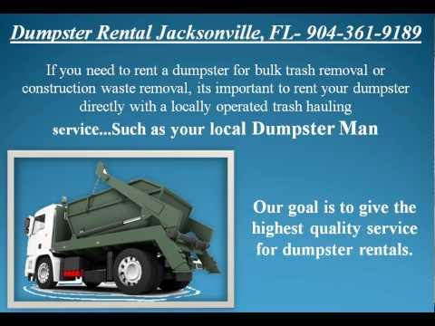Dumpster Rental Jacksonville 904-361-9189