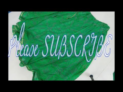 Full Length  Umbrella Cut Green Bandhani Lehenga  [ Hindi ] - Part 1 - Pattern-DIY