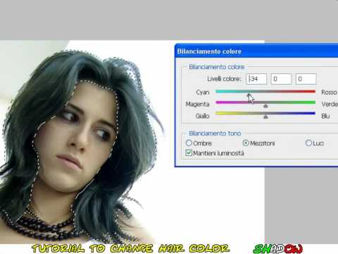 Tutorial Photoshop CS4 - How to change the color of dark hair