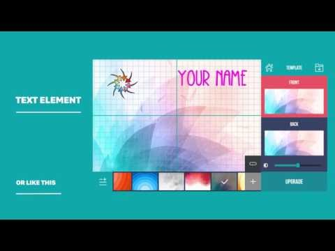 Business Card Maker & Creator - How to use