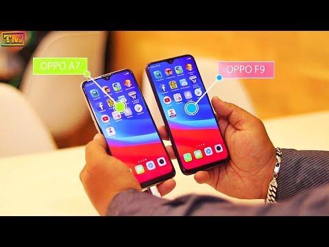 Oppo A7 Vs Oppo F9 Speed Test & Camera Comparison