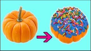 PUMPKIN into a DONUT!? - DIY Halloween Decorations & Crafts 2017