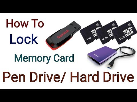 How To Lock/Unlock Pen Drive/Memory Card/ Or Hard Drive Without Any App (Hindi)