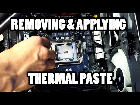 Removing and Applying Thermal Paste