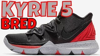 057eb37c6371 NIKE KYRIE 5  BRED  SNEAKER REVIEW + ON FEET AND LACE SWAP