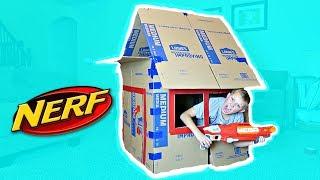 NERF BOX FORT CHALLENGE!!!