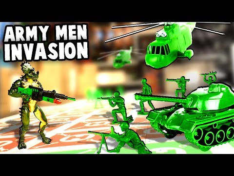 Huge GREEN ARMY MEN Invasion! Toy Soldiers Defense! (Hypercharge Unboxed Multiplayer Gameplay)