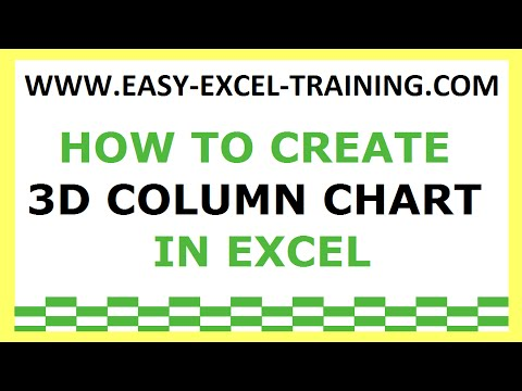 Task 140 - How to create 3D column chart in Excel - EXERCISES FOR BEGINNERS