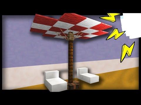 Minecraft - How to make a REALISTIC UMBRELLA (100% survival mode)
