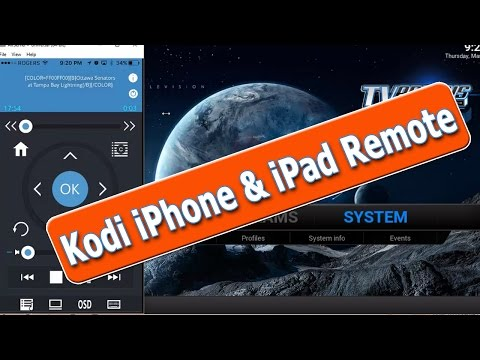 How To Control Kodi with iPhone or iPad - Kodi Remote Control