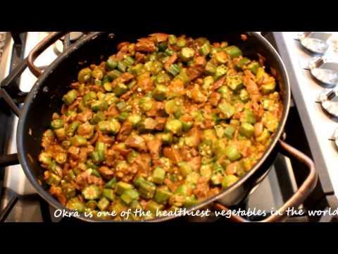 How To Make Bamya / Okra