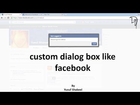 HTML5 | Create custom dialog box like facebook