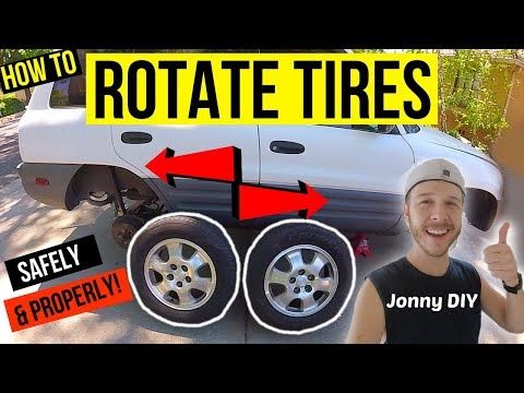 How To Rotate Tires Properly! -Jonny DIY