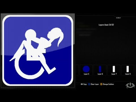 Call of Duty Black Ops 2 Emblem Editor Tutorials - Black Ops 2 - Handicap Emblem Tutorial ( The Ride ) Playercard Xbox 360 PS3 WiiU
