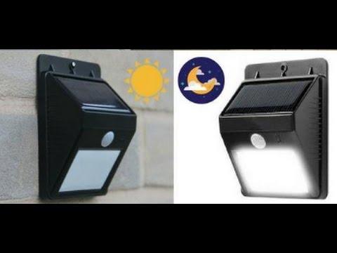 Solar Powered Outdoor Motion Sensor LED Light (NO WIRING NEEDED, EASY INSTALLATION)