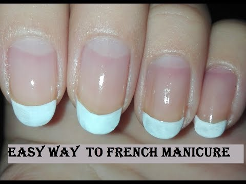 DIY Easiest Way: How to French Manicure Non-Dominant Hand-NAIL 101 Tutorial (No Tools) | Rose Pearl