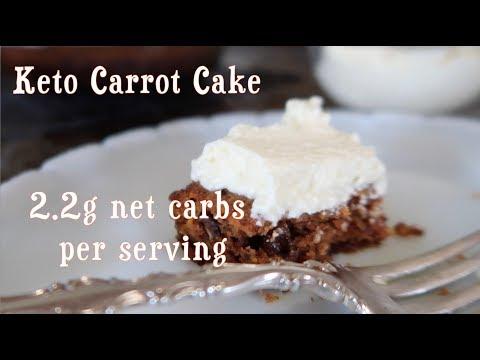 KETO CARROT CAKE | kid friendly | grain free | low carb | ketogenic recipe
