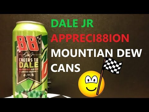 Dale Jr Mountain Dew can