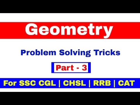 Geometry For SSC CGL | CHSL | CAT | RRB [ In Hindi] Pat - 3