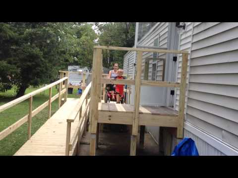 Ashleys new porch and ramp!