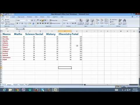 [ Mark Sheet ] Excel Total And Percentage Calculation