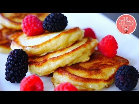 Buttermilk Pancakes   Apple Pancake Recipe   Оладьи с яблоками