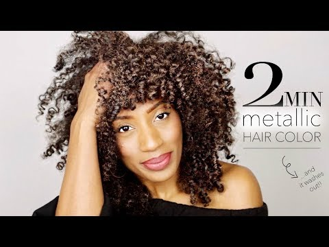 2 MIN Metallic Hair Color First Impressions!!