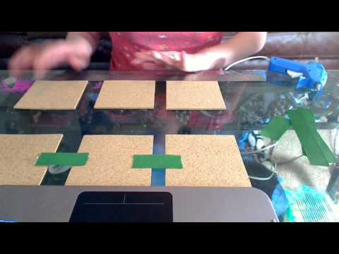 How to make a hanging cork board