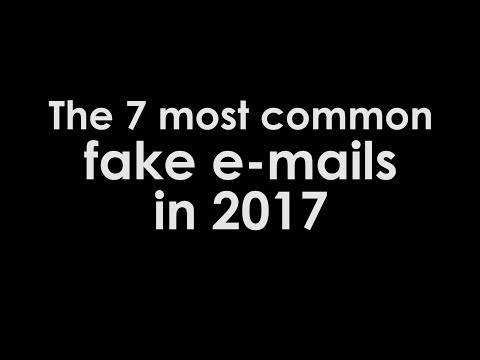The most common scam / fake e-mails in 2017
