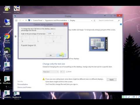 How to change text size bigger in Windows 8 and 8.1