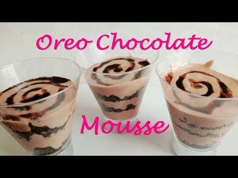 Oreo Chocolate Mousse Recipe|No Eggs No Gelatin| Chocolate mousse at Home| PrettyTwinGirls|Life Shot