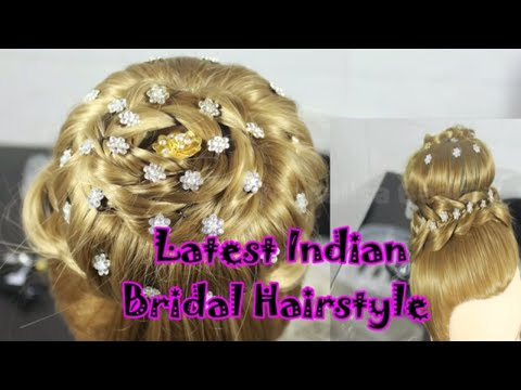 Indian bridal hairstyle ! wedding hairstyle ! Bridal bun (juda) ! party bun ! step by step
