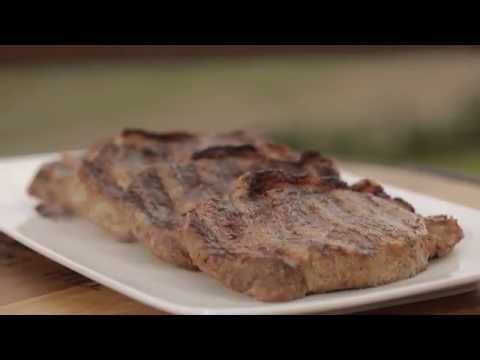 Cooking Porterhouse Steak on a Weber Premium Gas Barbecue