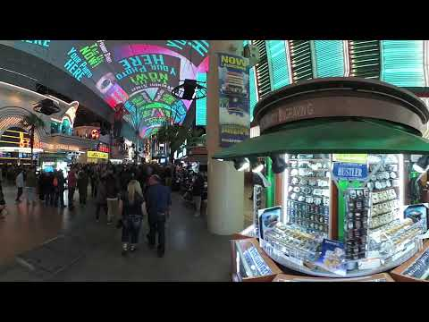 Downtown Fremont Street Experience on a Friday Night 2018!  VR360 (4k)