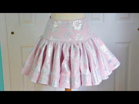 Ruffly Skirt Tutorial - With Horsehair Braid