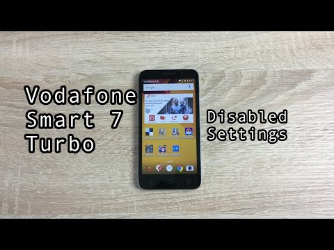 Vodafone Smart 7 Turbo Disabled Settings